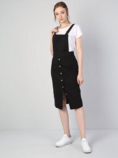 Dar Kesim Siyah Elbise