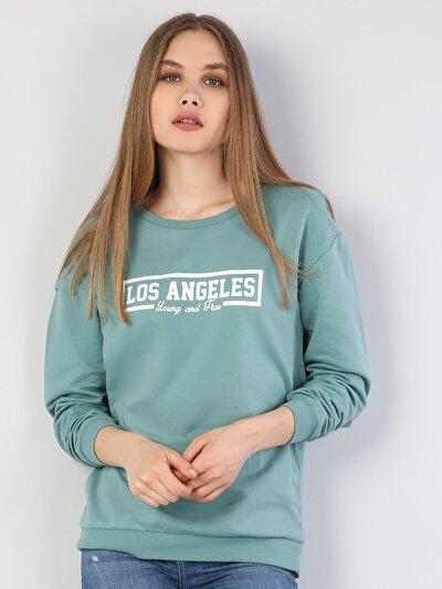 Turkuaz Kadın Sweatshirt