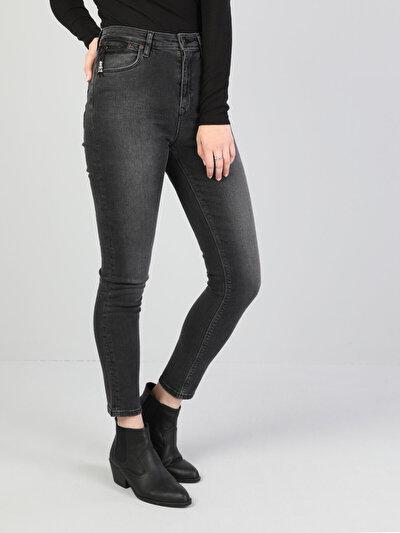 Koyu Gri Kadın Pantolon