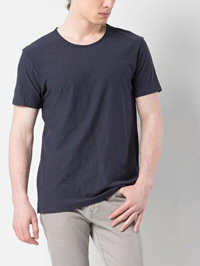 Lacivert Yuvarlak Yaka Kısa Kol Tişört