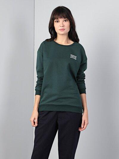 Yeşil Kadın Sweatshirt