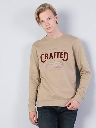Kahverengi Erkek Sweatshirt