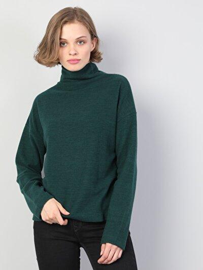 Yeşil Kadın Tshirt U.kol