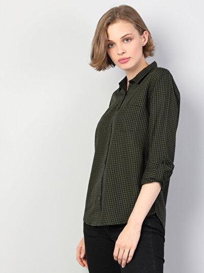 Haki Uzun Kol Gömlek