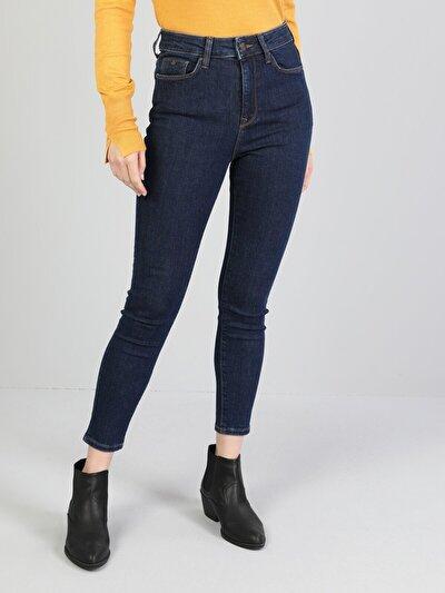 760 Diana Dar Kesim   Mavi Jean Pantolon