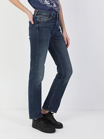 792 Mila Normal Kesim Normal Bel Düz Paça Mavi Kadın Pantolon