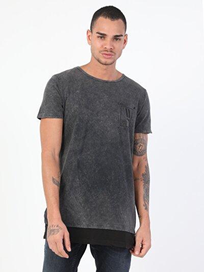 Erkek Antrasit Kısa Kol Tişört