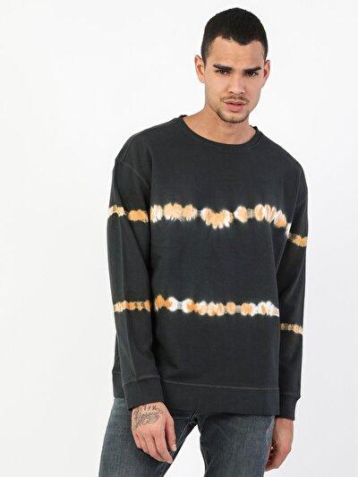 Oversize Erkek Siyah Sweatshirt