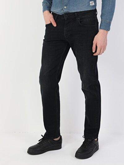 045 David Normal Kesim Normal Bel Düz Paça Siyah Erkek Pantolon