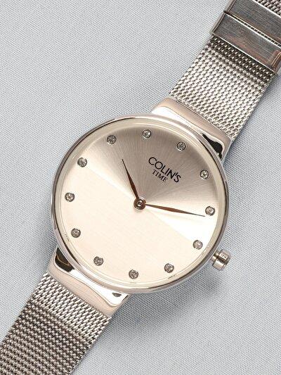 Gümüş Hasır Kordon Kadın Saat