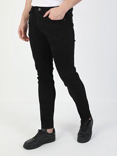 041 Danny Dar Kesim Düşük Bel Dar Paça Siyah Jean Pantolon