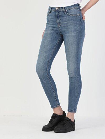 Açık Mavi Kadın Pantolon