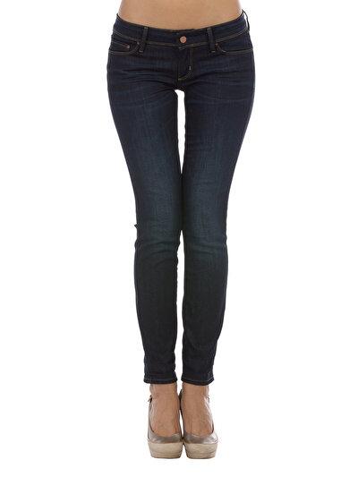 757 Sally Dar Kesim Düşük Bel Dar Paça Siyah Jean Pantolon