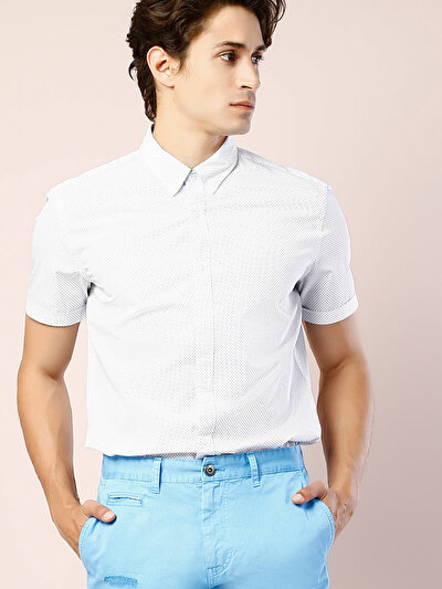 Beyaz Kısa Kol Gömlek