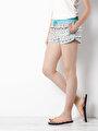 Slim Fit  Kadın Çok Renkli Deniz Şortu