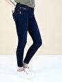 757 Sally Slim Fit Düşük Bel Dar Paça Mavi Jean Pantolon