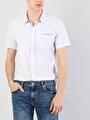 Klasik Yaka Beyaz Kısa Kol Gömlek