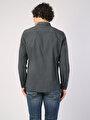 Klasik Yaka Antrasit Uzun Kol Gömlek