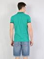 Slim Fit Polo Yaka Erkek Yeşil Polo Kısa Kol