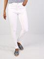 Süper Slim Fit Beyaz Pantolon