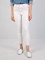 760 Dıana Super Slim Fit Yüksek Bel Skinny  Leg  Kadın Beyaz Jean Pantolon