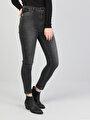 760 Dıana Yüksek Bel Dar Paça Super Slim Fit Koyu Gri Kadın Jean Pantolon
