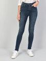 760 Dıana Yüksek Bel Dar Paça Super Slim Fit Koyu Mavi Kadın Jean Pantolon