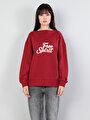 Comfort Fit  Kadın Bordo Sweatshirt