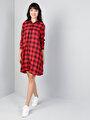 Regular Fit  Kadın Kırmızı Elbise