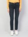 792 Mila Normal Kesim Koyu Mavi Kadın Denim Pantolon