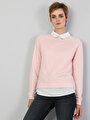 Regular Fit  Kadın Pembe Sweatshirt
