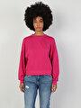 Regular Fit Kadın Fuşya Sweatshirt