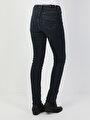 703 Carla Orta Bel Düz Paça Slim Fit Koyu Mavi Kadın Jean Pantolon