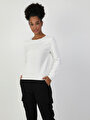 Regular  Beyaz Sweatshirt