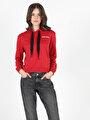 Regular Fit  Kadın Kırmızı Sweatshirt