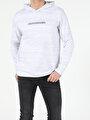 Regular Fit Hooded Erkek Gri Melanj Tshirt U.Kol