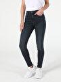 760 Dıana Yüksek Bel Dar Paça Super Slim Fit Gri Kadın Jean Pantolon