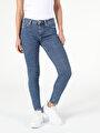 759 Lara Orta Bel Dar Paça Super Slim Fit Jean Kadın Jean Pantolon