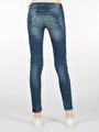 757 Sally Super Slim Fit Super Düşük Bel Skinny  Leg  Kadın İndigo Jean Pantolon