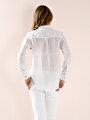 Beyaz Bayan Gömlek U.kol