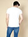 Beyaz Bisiklet Yaka Kısa Kol Tişört
