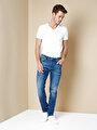 067 Jack Normal Kesim Orta Bel Dar Paça Mavi Jean Pantolon