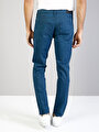 Straight Fit Orta Bel Düz Paça  Erkek İndigo Pantolon