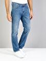 045 David Regular Fit Orta Bel Boru Paça  Erkek İndigo Jean Pantolon
