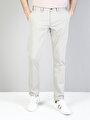 Slim Fit Orta Bel Slim Leg  Erkek Taş Pantolon